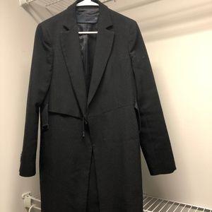 ZARA woman studio wool blazer coat with belt